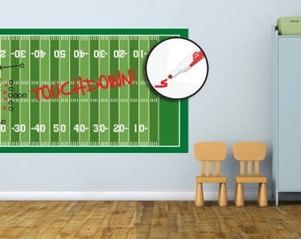 Football Field Dry Erase Removable Wall Decal