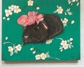 """Frida Ginea - 10""""x8"""" Painting on Wood"""