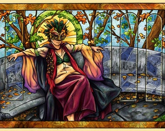 CLEARANCE - Art Print - Throne Room of Lady Time