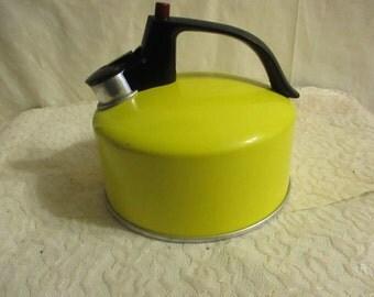 Yellow Regal Tea Kettle Aluminum