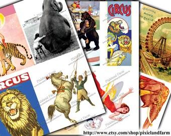 Circus Vintage Clip Art Printable Digital Download