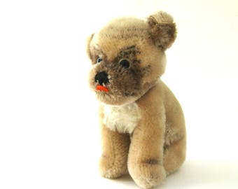 charming vintage steiff dog   ...  mopsy   ...    looking for a new home