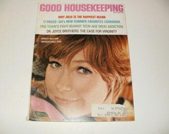 Vintage Good Housekeeping Magazine June 1969 - Shirley MacLaine Cover, Hair styles, Fashion, Art, Scrapbooking, Retro Vintage Ads