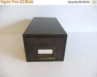 50% off Sale ON SALE Vintage Metal File Box