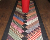 Braided Homespun Plaids Quilted Table Runner