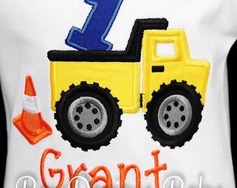Dump Truck Birthday Shirt, Construction Shirt or Bodysuit, Construction Party, Boys Birthday Shirt, Custom, First, Second, Third, Fourth