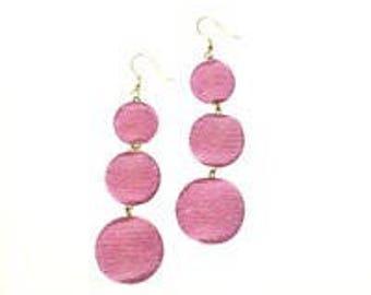 Pink 3 Ball Bon Bon Earrings