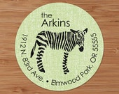 Shabby Zebra - Custom Address Labels or Stickers