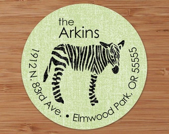Shabby Zebra - Custom Address Labels or Stickers