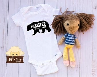 Baby Onesie/Bodysuit/ Baby gift/ Baby shower/Infant/Baby Clothing /Sister Bear/ Coming Home Outfit