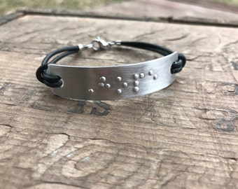 Personalized Braille Bracelet || Personalized Friendship Bracelet Custom Braille Secret Message