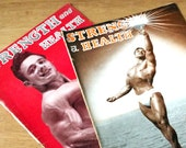 Two 1940s Strength and Health Magazines - Body Building Weight Lifting Training Magazines