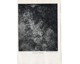 1946 STAR CLOUD in SAGITTARIUS lithograph - original vintage print - celestIal astronomy - from Yerke's Observatory