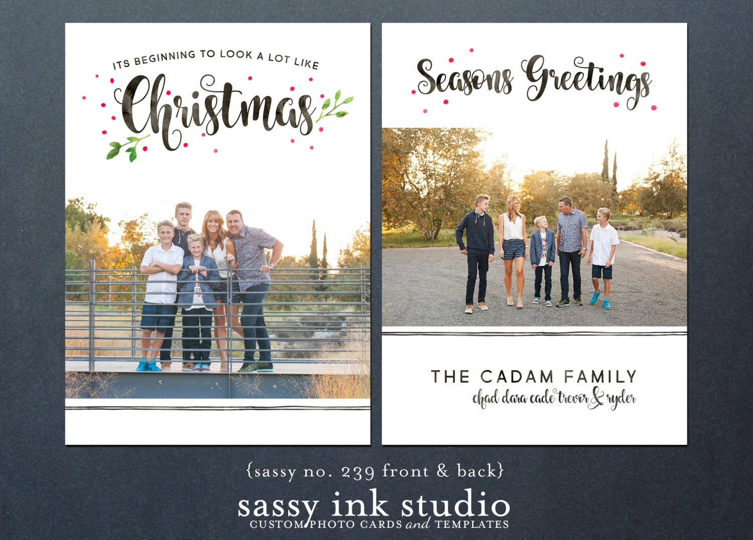 Holiday photo card template 5x7 photoshop template christmas holiday photo card template 5x7 photoshop template christmas card beginning to look a m4hsunfo