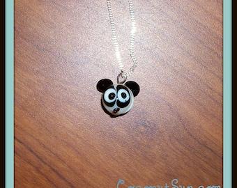 Glass Panda Necklace