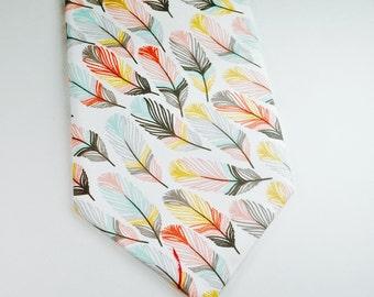 Mint Neckties Mint and Coral Neckties Mens Neckties Feather Neckties Wedding Neckties Mint Mens Neckties Custom Neckties Mens Neckties