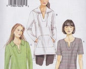 Sale Very Easy Vogue Pattern V8951 Close-Fitting Pullover Tunic Top with Neckline and Sleeve Variations  Misses Sizes  Xsm - Small - Med