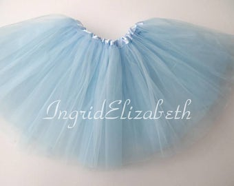 Light Blue Tutu, Blue Toddler Tutu, Light Blue Ballet Tutu, Light Blue Tutu Skirt, Blue Girls Tutu, Blue Dance Tutu, Tulle Skirt, Costume