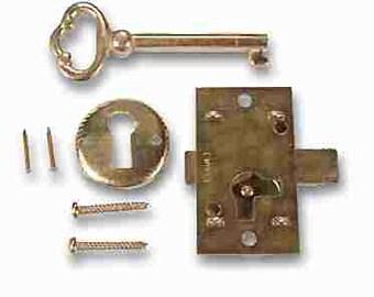 DIY Cabinet Lock Set Brass Plated