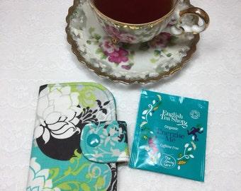 Tea wallet, tea bag wallet, tea, tea lover, tea carrier, stocking stuffer, teacher gift, tea bag pouch, tea bag case, tea case, mothers day