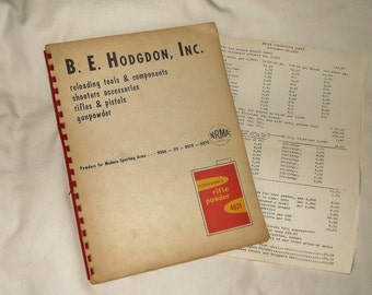 Vintage B. E. HODGDON CATALOG • reloading tools & components . shooters accessories . rifles . pistols . gunpowder