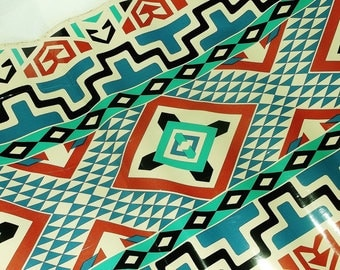 Vintage Native Print Con-Tact Brand Covering • contact plastic paper