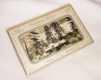 7 Antique miniature Malahat Drive photos • Postcard Pack