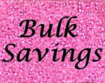 Bulk Discount Order for 12 Glittered Quart Mason Jars, Any Color, Wedding Decoration, Baby Shower, Home or Office Decor, Free Shipping