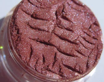 Peachy Orange Pink Eye Shadow Shade| Blue Shimmer| Vegan Mineral Eye Shadow-Fireworks