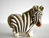 RESERVED Vintage Rinconada de Rosa Zebra Figurine