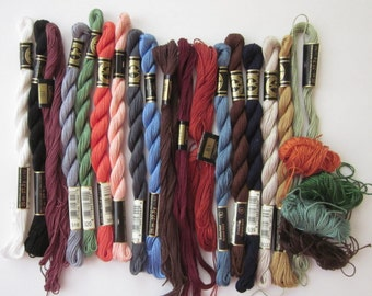 Color Assortment of DMC size 5 Cotton Perle Embroidery Floss