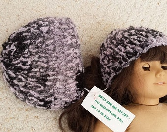 Dolly and Me Crocheted Hats, fits American Girl, Bitsy Baby, or similar dolls and Little Girls