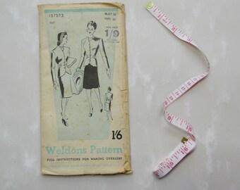 Weldons Pattern 157573 For Women's Suit, Bust 36, Hips 40, Circa 1940s