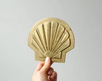 Vintage Brass Shell Trivet