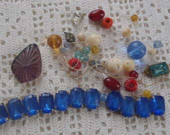 Vintage Jewelry Making Supplies 42 Assorted Pieces