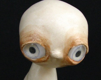 Art Sculpture - Grief - Handmade - OOAK - Paper Clay Sculpture - Goth Sculpture - Odd Sculpture - Weird Sculpture