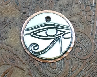 Egyptian Dog Custom ID Tag, Pet ID Tag, Personalized Dog Tag, Dog Tag for Dogs, Eye of Horus