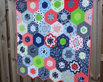 Baby Quilt / Quilts for Sale /  Custom Quilt / Sailboats / Red White Blue Quilt / Nautical Quilt / Boy Quilt / Girl Quilt / READY TO SHIP