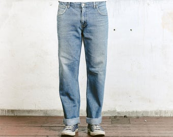 Men's LEE Ranger Jeans . Vintage Denim Straight Leg Distressed Blue Jeans High Waisted Boyfriend Jeans Relaxed Men's Unisex 80s Denim Jeans