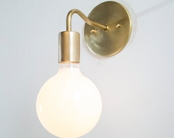 wall sconce light brass sconce lamp ul listed fixture raw brass minimalist simple