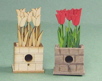 Tulips Birdhouse Kit - 1/12 Scale For Your Dollhouse