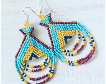 Tepee Beaded Earrings