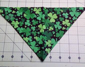 Dog Bandana, St Patrick's Day, neckerchief, shamrock, Irish