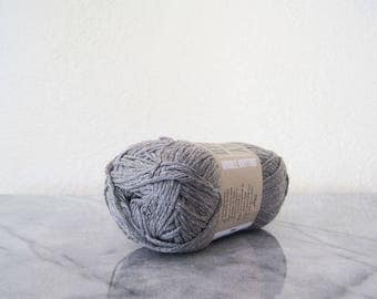 Sirdar Simply Recycled DK Cotton Acrylic Blend Yarn One Skein 50 Gram Gray Eco Friendly