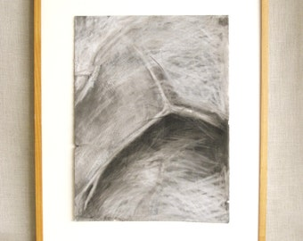 Charcoal Drawing, Honore Lee, Original Art, Twig Series, Fine Art, Works on Paper, Vintage Art, Handmade, Framed Drawings, Black and White