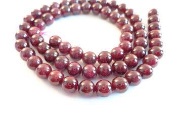 Deep Purple beads 6mm - beads for bracelet making, jewelry supplies, diy jewelry-making