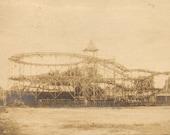 Roller Coaster Vintage Antique Photograph Snaps