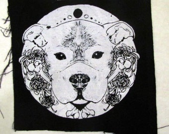Pit bull > Mandala > Bones > Moon Backpatch