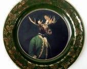 "Baron de Capreolinae Portrait Plate 6.4"""