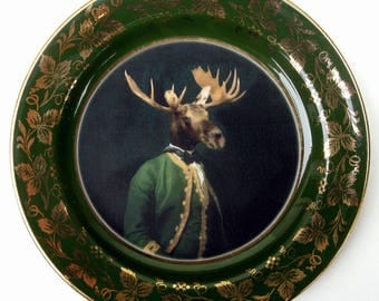 "Baron de Capreolinae Portrait Plate 8.25"""